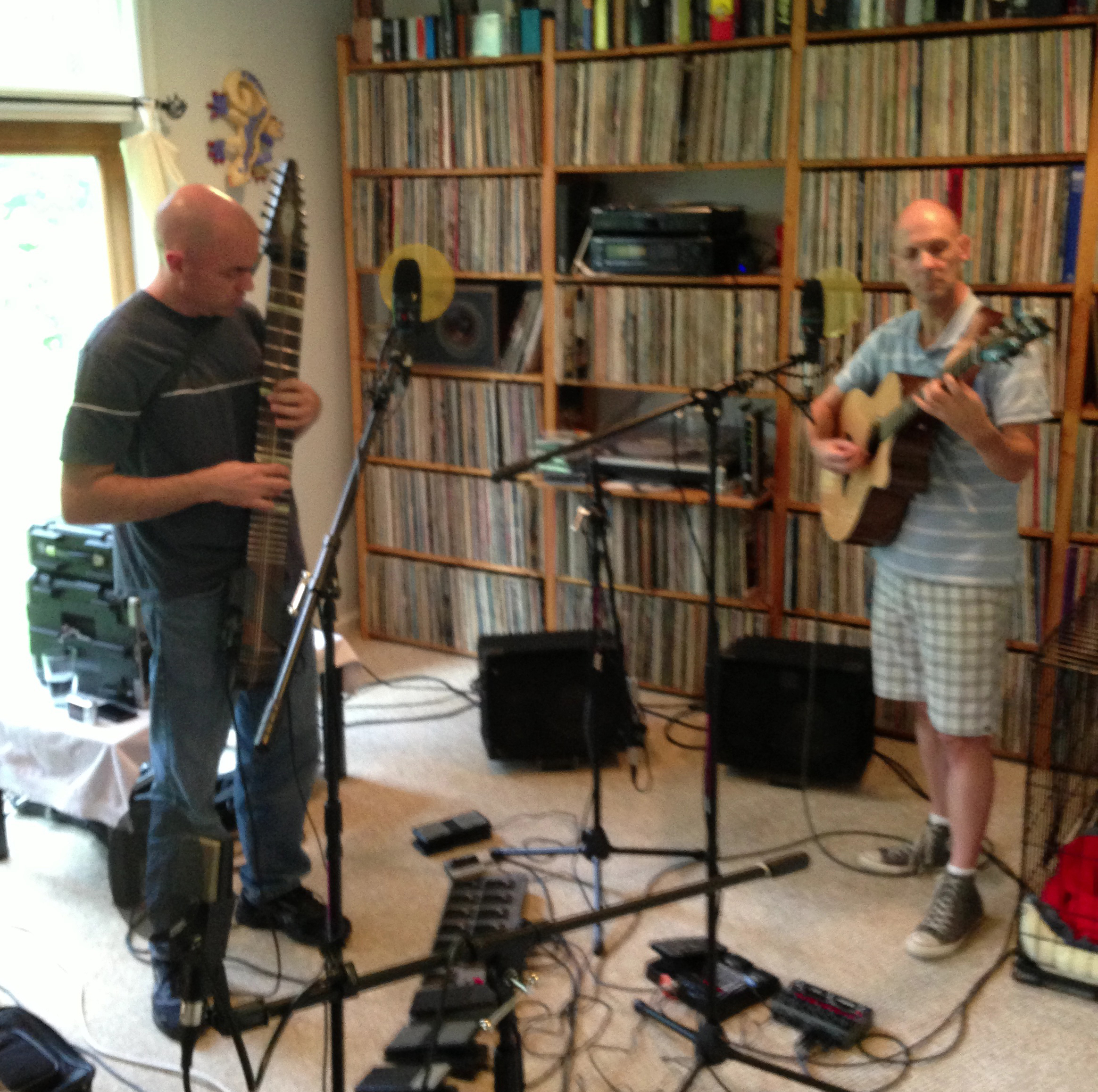 Tom Griesgraber & Ber Lams in Echoes Living Room