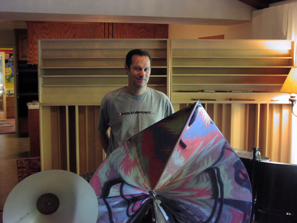 Cliff Martinez with Baschet Sound Scultpture pic: dilbierto
