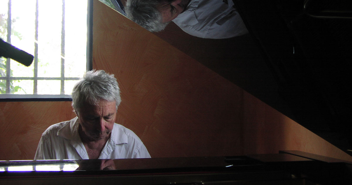 Harold Budd at Piano with Relfection